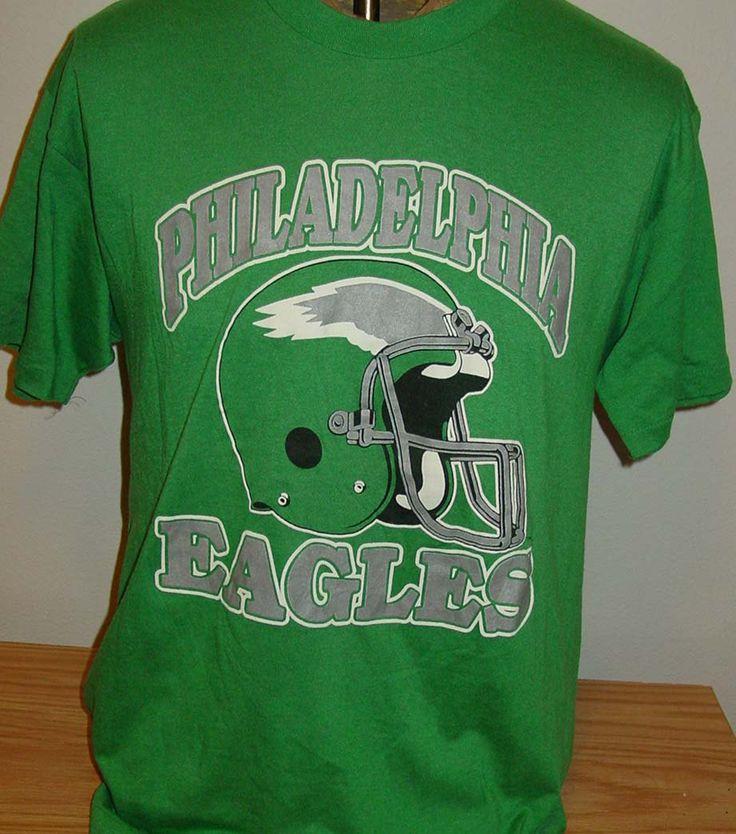 Vintage 1980s philadelphia eagles nfl football retro t for Eagles football t shirts