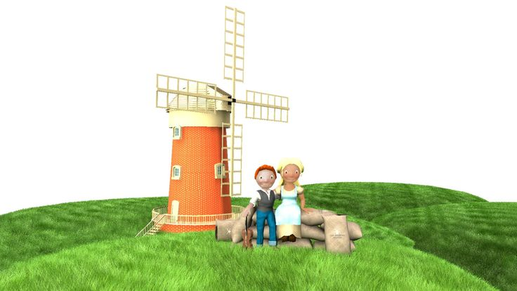 A windmill for our vintage couple design :D soon it shall move to :D