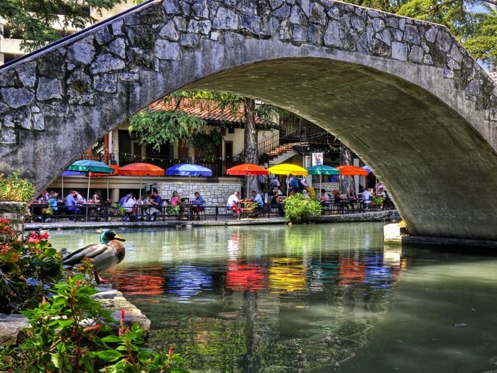San Antonio Riverwalk.  Pretty photo.