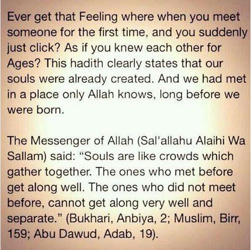 Souls who click together? My dear Allah The Almighty, kindly let me know & let see if she is the one.