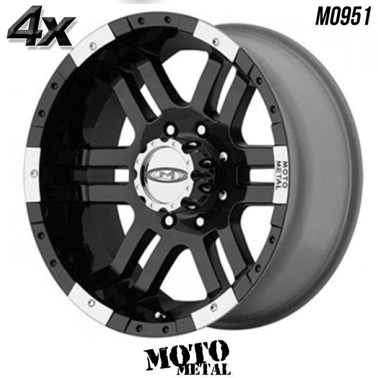 "4 Moto Metal MO951 17""x9"" 5x127 Gloss Black OFST:-12mm 17 Inch Rims 17X9 Wheels"