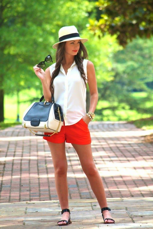 Best 25  Red shorts ideas that you will like on Pinterest   Red ...