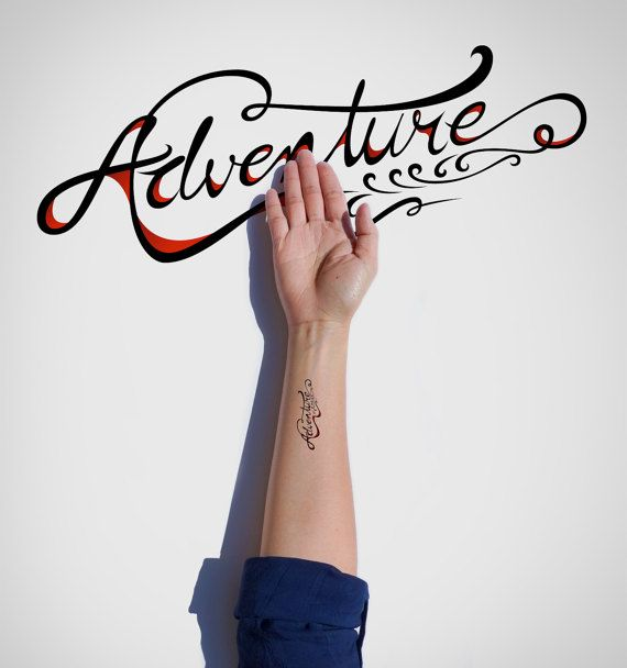 Adventure Temporary Tattoo/Typography Temporary by EasternCloud