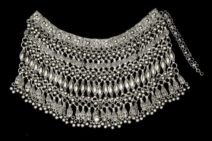 *|*  Arabian Silver Necklace, early 20th Century