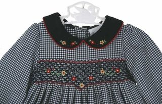 Rare Editions black checked smocked toddler dress,Rare Editions black checked smocked dress for little girls,black and white smocked dress f...
