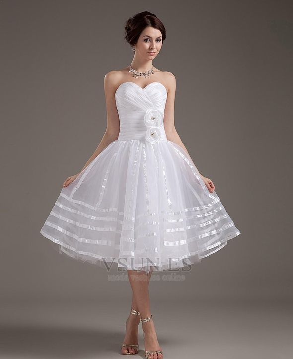 Vestido+de+novia+Corte-A+Oscilación+Escote+Corazón+Flores+Tallas+pequeñas