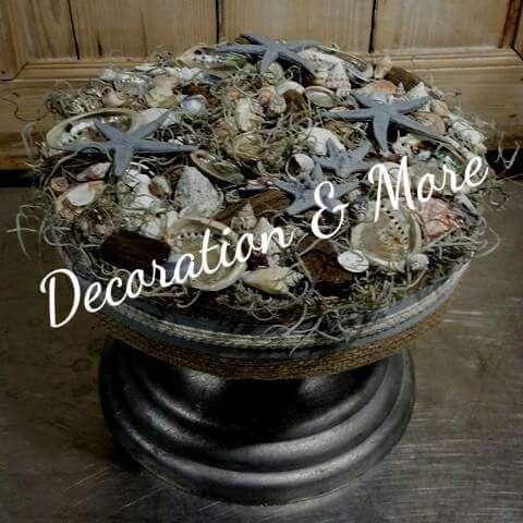 Schelpentaart Material: schelpen tilandsia piepschuim zeesterren