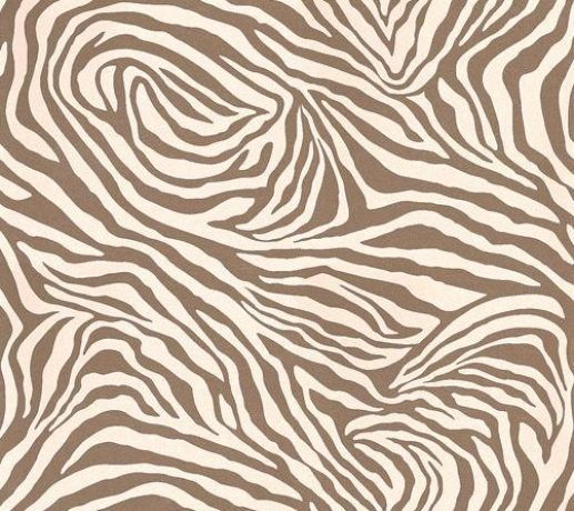 Zebrano (PM142) - Nono Wallpapers - A stylized zebra skin print which gives a swirling pattern repeat. Shown in the gold colourway – cream on gold foil. Wide width. Please request sample for true colour match