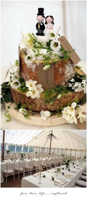 Rustic cheese wedding cake