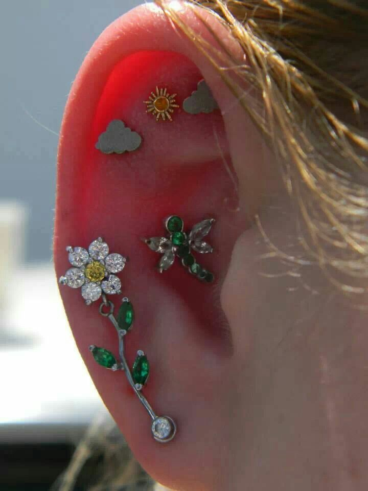 Scenic ear piercings #BVLA #bodyvision #BodyVisionLosAngeles