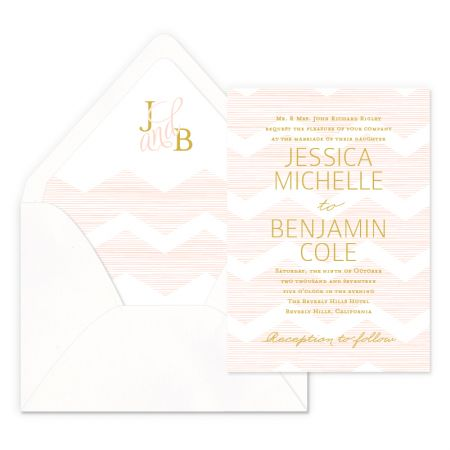 Delicate Chevron Wedding Invitations