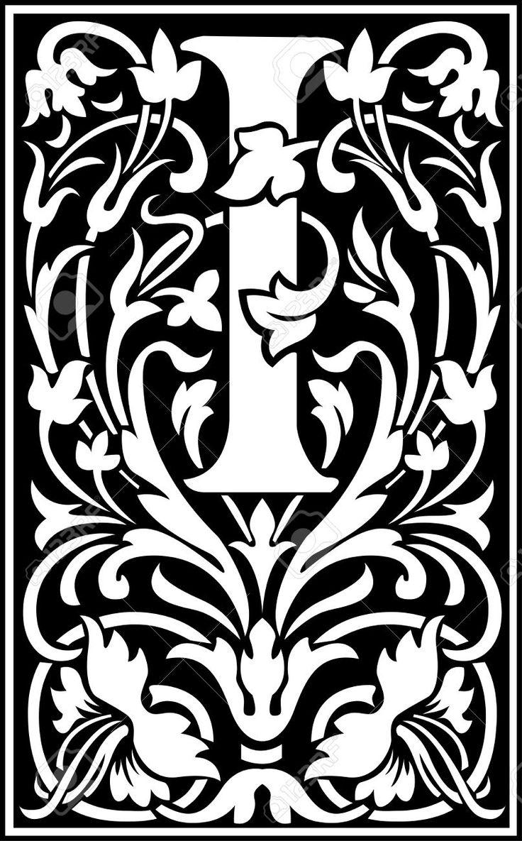 Английские буквы алфавита, украшенные цветами и листьев растений Клипарты, векторы, и Набор Иллюстраций Без Оплаты Отчислений. Image 27143298.