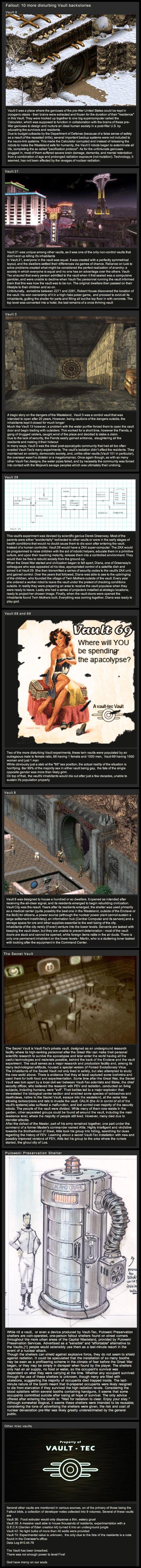 10 Disturbing Fallout Vault Backstories: