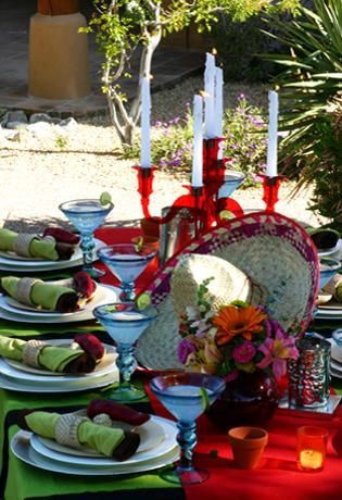 Authentic Mexican Fiesta: Mexicans Themed, Tables Sets, Fiestas Party, May 5, Party Idea, Mexicans Party, Mexican Fiestas, Bridal Showers