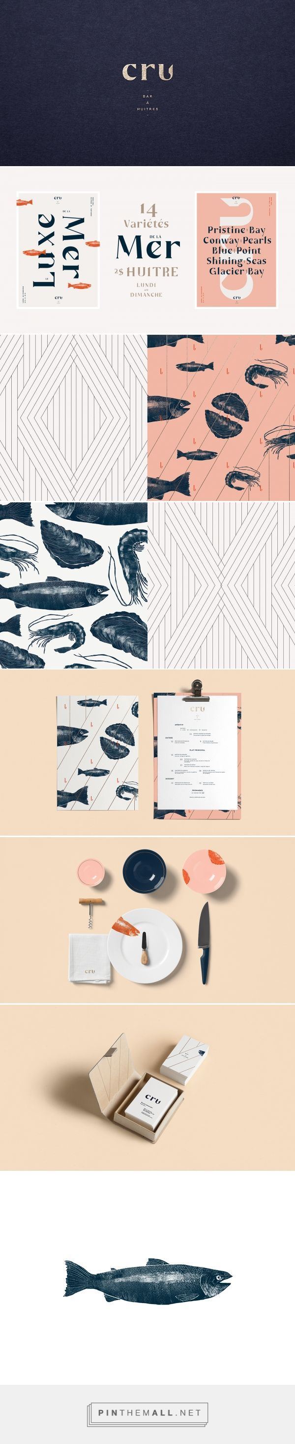 CRU Oyster Bar Restaurant Branding and Menu Design by Sid Lee | Fivestar Branding Agency – Design and Branding Agency & Curated Inspiration Gallery