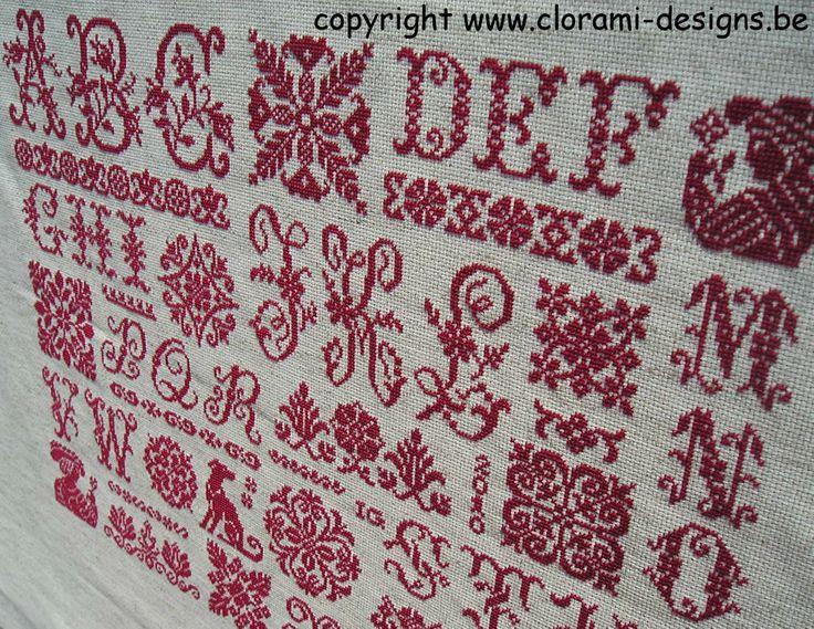 26 Letters Sampler www.clorami-designs.be