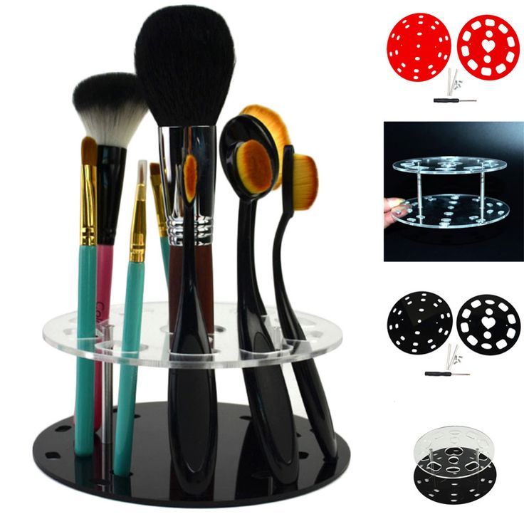 Makeup Brush Holder Cosmetic Makeup Brushes Holder Brush Showing Rack Hearts Shaped makeup brushes Drying display Stand Storage