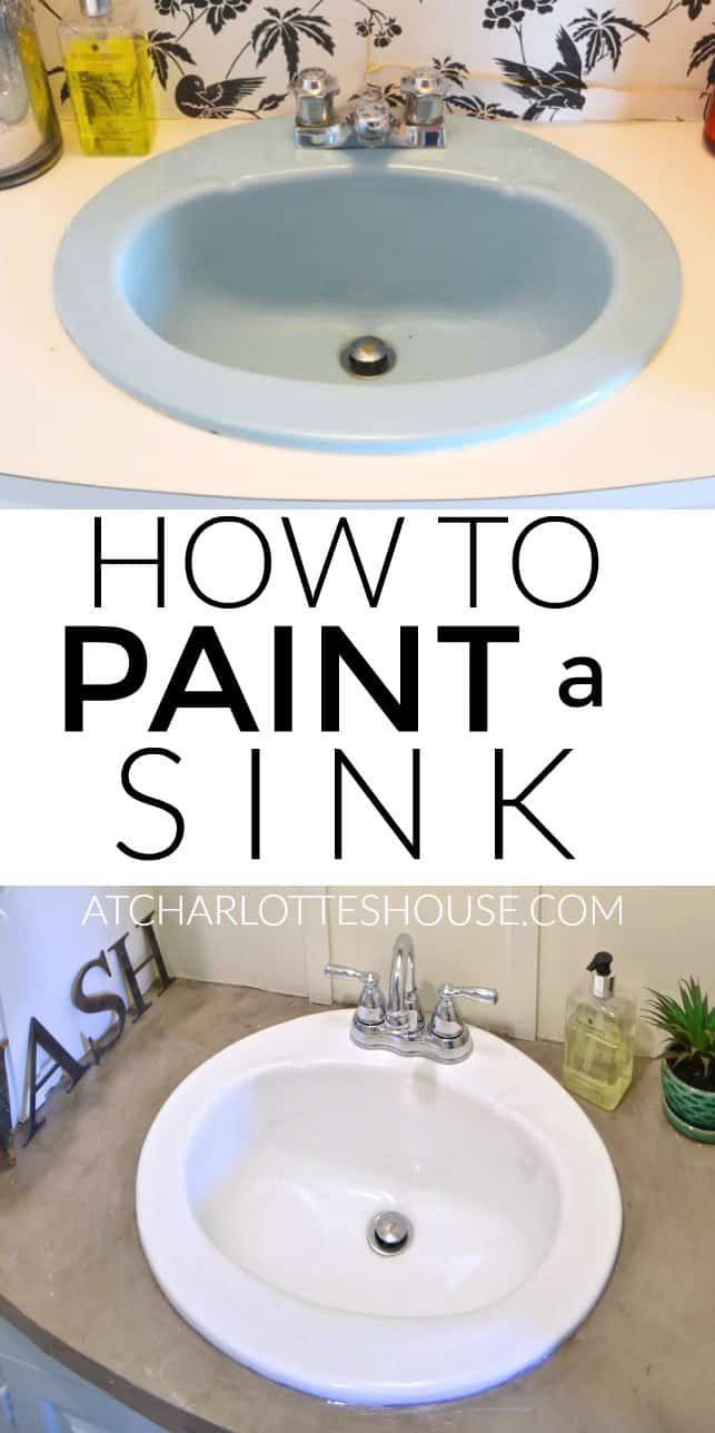 How To Paint A Sink With Images Painting A Sink Diy Remodel