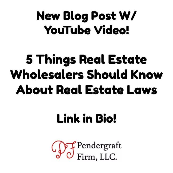This one is for my wholesalers! 5 things real estate wholesalers should know about real estate laws from a real estate attorney. I discuss (1) Tenant's right of first refusal (2) why you should get your contracts from a local attorney (3) why you need a title attorney or title company that works with distressed properties (4) why a $1 earnest money deposit is not enough and (5) legal and illegal wholesaling activities.  Now go get your money!