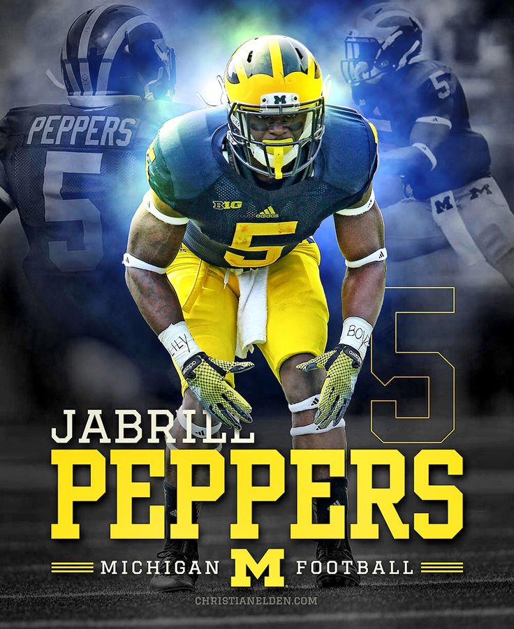 Jabrill Peppers Michigan Wolverines #5 | christianelden.com
