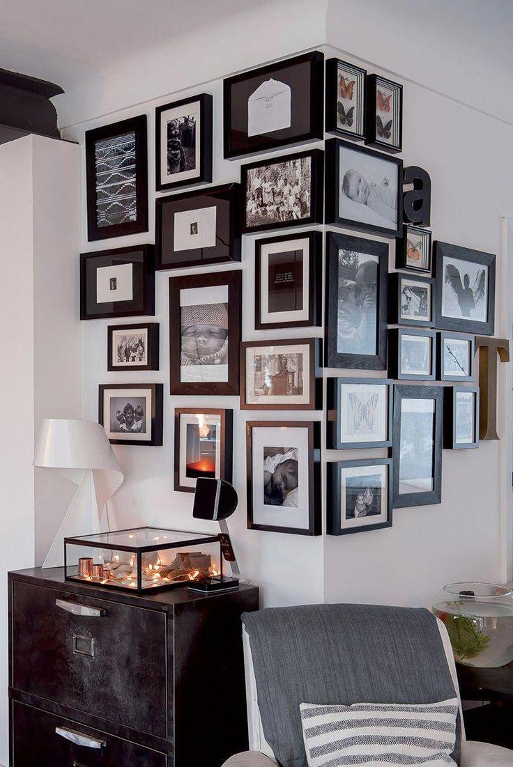 Acumulação de molduras # HomeDecoration   – Fotowand Flur