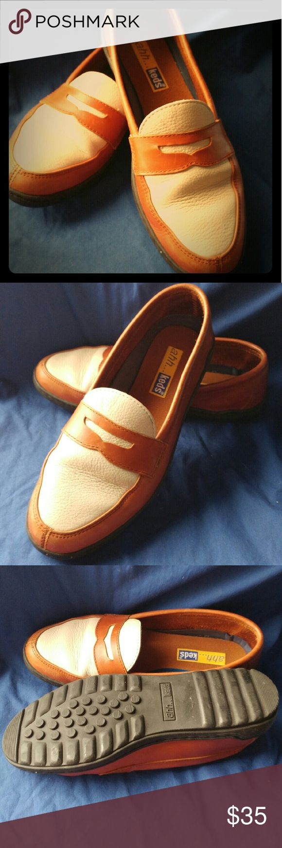 Keds ahh leather loafer Leather keds. Tan and beige. Keds Shoes Flats & Loafers