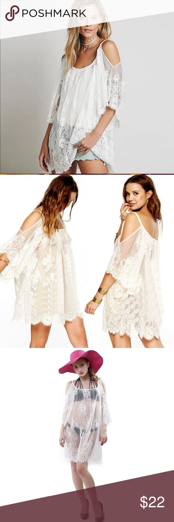 Spotted while shopping on Poshmark: Sexy Summer Hippie Short Sheer Beach Dress - White! #poshmark #fashion #shopping #style #Other