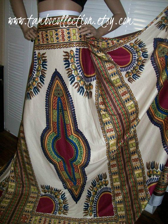 Cream Color Stretch Knit Dashiki Fabric by the panel 70x32 inches/Angelina fabric/ Stretchy African fabric/ Dashiki leggings, African fabric