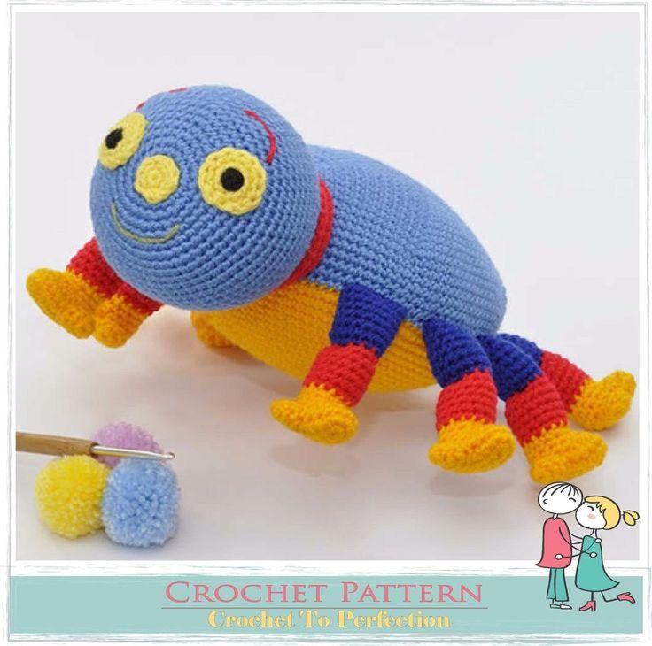 Wolly Spider CROCHET PATTERN on CD Woolly Spider Amigurumi Pattern Spider Toy