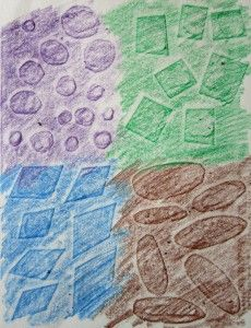 IF Kids « Illustration Friday  texture rubbings as background