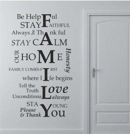 Wall Sayings Decor best 20+ family wall sayings ideas on pinterest | wall sayings