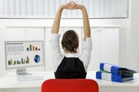 Your Work Workout: Exercises To Stay Fit  at a Desk JobOffices Desks, Fit, Mental Health, Yoga Poses, Workout Routines, Work Desks, Chairs Yoga, The Offices, Weights Loss Secret