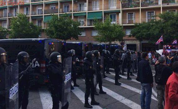 Dieciséis detenidos por disturbios previos al último Atlético-Real Madrid