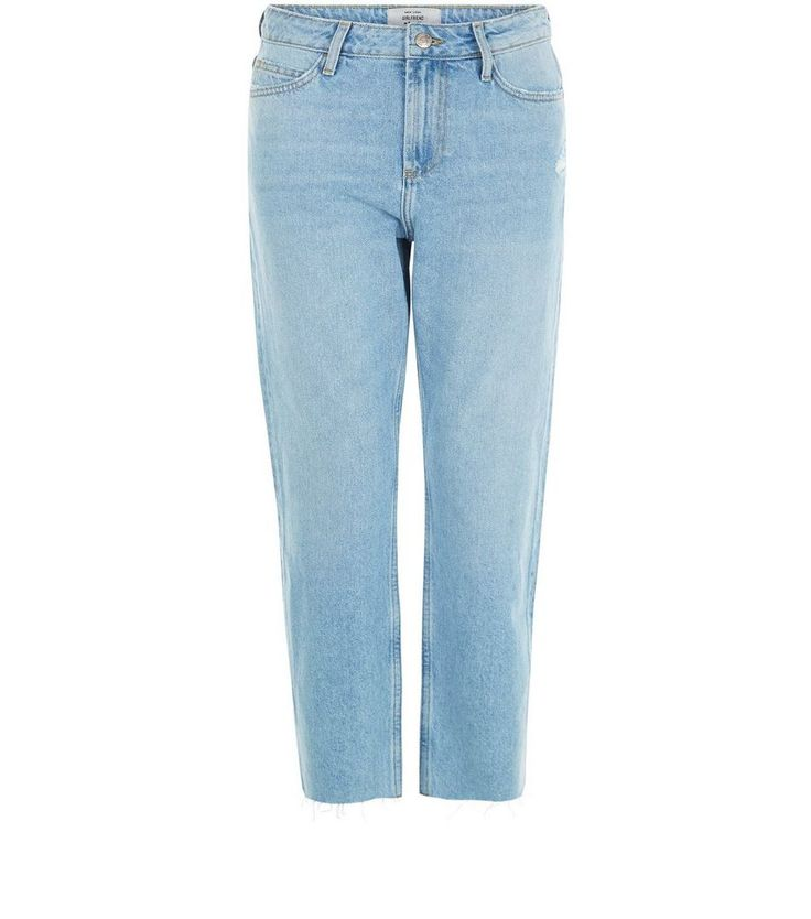 For lazy summer days, you need a laidback pair of jeans like these Light Blue Fray Hem Straight Leg. #newlook #DiscoverSS16