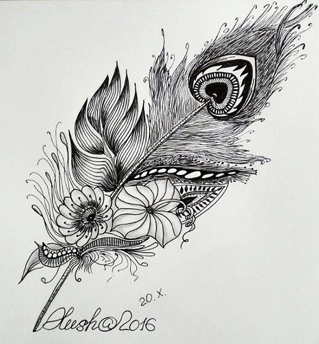 Первое мое перышко✒ #перо #перышко #арт #зенарт #дудлинг #зентангл #тангл #ярисую #рисунок #медитация #art #zenart #zentangle #doodling #zendoodle #draw #drawing #pen #maditation