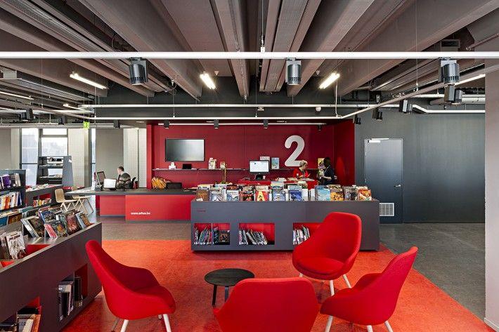 ARhus, Roeselaarse stadsbib. & kenniscentrum omarmt HAY... About A Lounge by HAY - copyright pictures Klaas Verdu