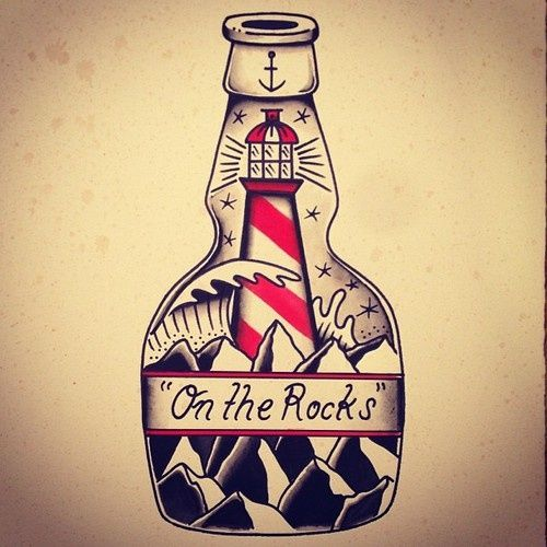 On the Rocks Tattoo Flash | KYSA