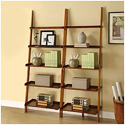 @Overstock.com - This unique leaning ladder shelf set will make a stylish addition to any room in your home. With five tiers, this shelf set provides storage or placement for decoration.http://www.overstock.com/Home-Garden/Mahogany-Five-tier-2-piece-Leaning-Ladder-Shelf-Set/5288897/product.html?CID=214117 $147.09
