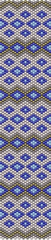 Today's pattern, can be worked in odd count peyote and it only has five colors.  Pretty simple and straightforward :)