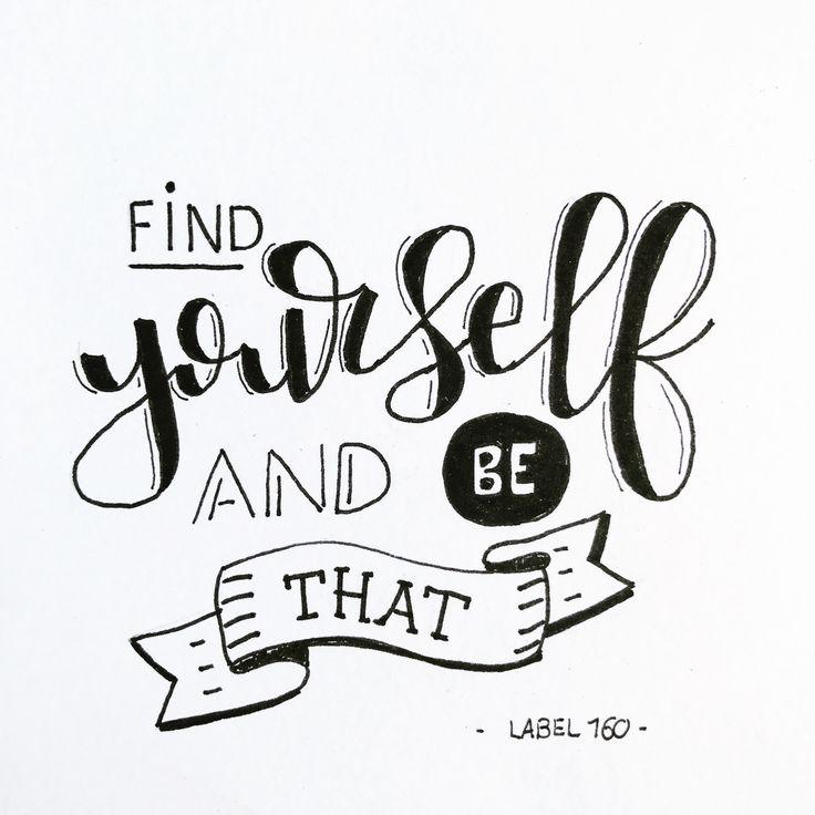 Vind jezelf en wees dat
