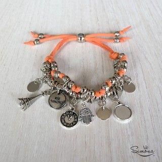 Clementina Pulsera. Naranja Claro.