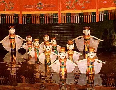 """Hanoi's Water Puppet Performance - """"Punch & Judy in water"""" - lots of fun."""