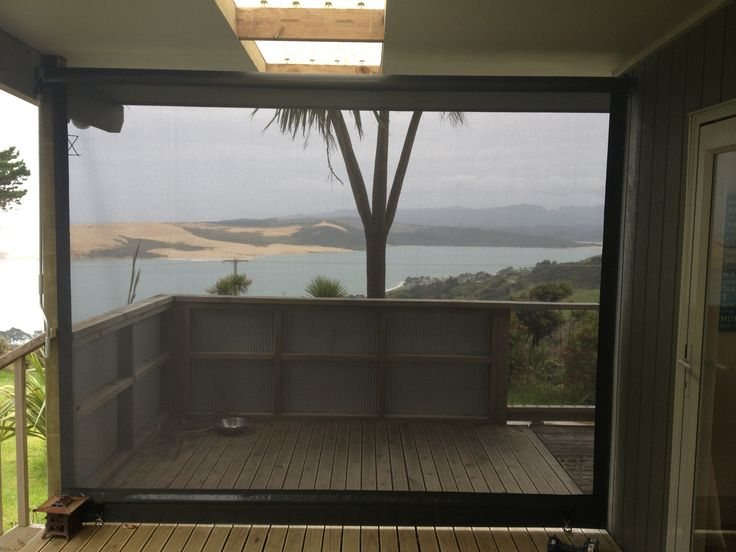 Block out the wind with a Roller Blind -manufactured in Shadeview fabric. Still maintain visibility and add privacy.