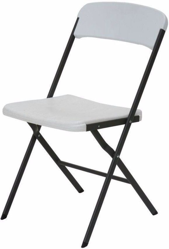 Contemporary Lightweight White Folding Chair Set Of Six Indoor Outdoor Use