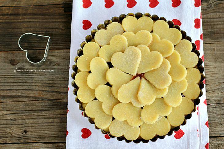 Crostata di cuori, ricetta per San Valentino | Chiarapassion