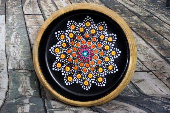 Verano indio joya grande gota Mandala Bowl