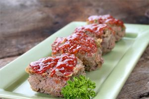 Mini Low-fat Meat Loaves...I would use ground turkey, though