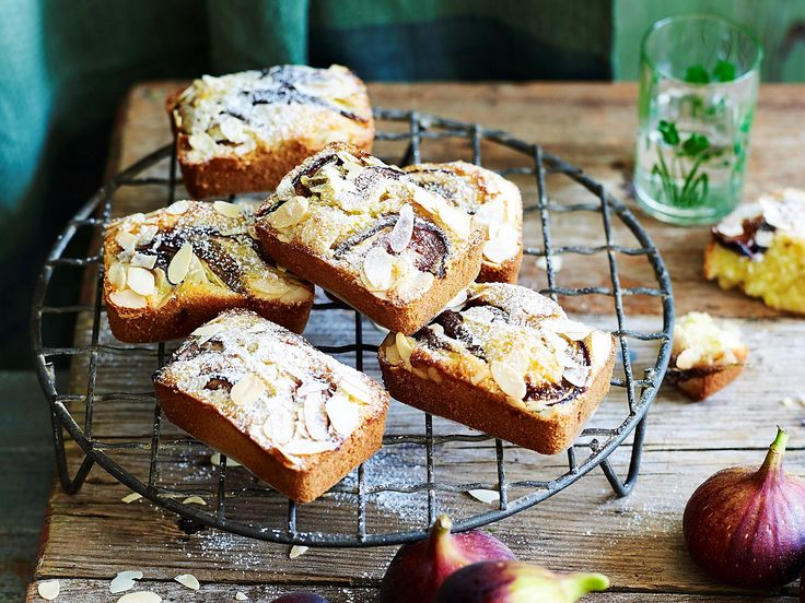 Topped with fresh figs and flaked almonds, these sweet gluten-free friands are the perfect addition to your morning or afternoon tea.