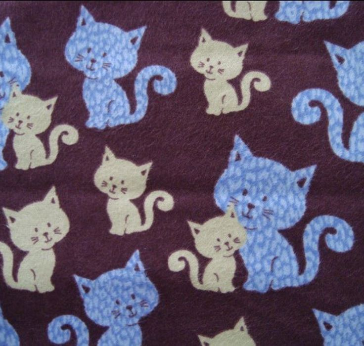 Cat Print Fleece Fabric Uk