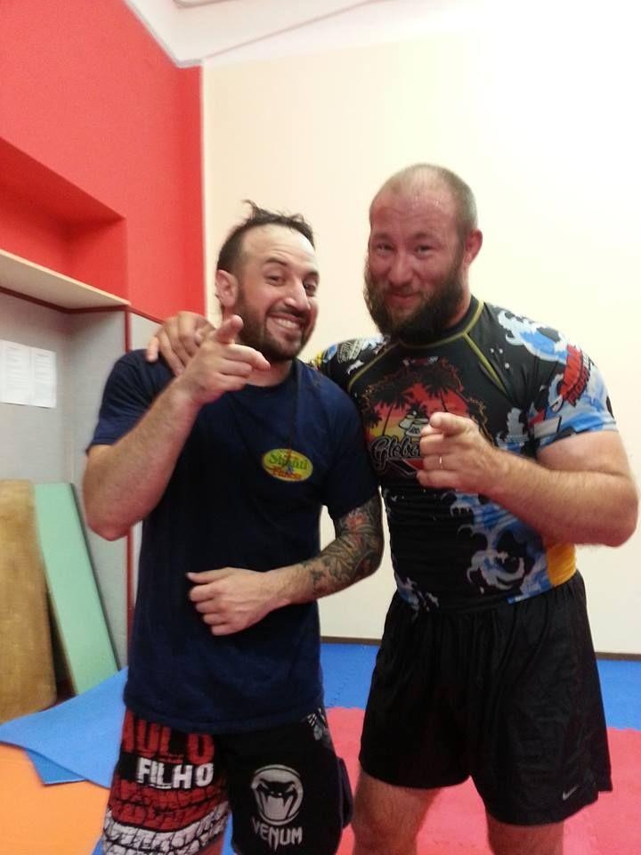 With Erik Bydairk Wresting Training , messina 2014